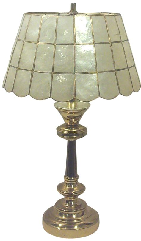 capiz shell l shade brass table l with capiz shell shade chairish