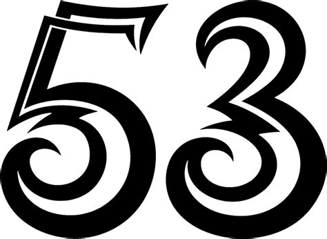 tnorigin 53 tribal racing numbers graphic decal stickers