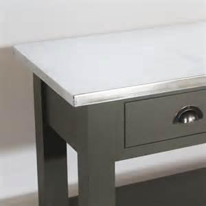 console gris fonc 233 plateau zinc 3 tiroirs 2 233 tag 232 res