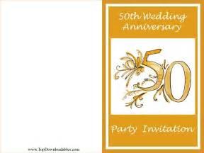 Downloadand print 50th wedding anniversary invitation template