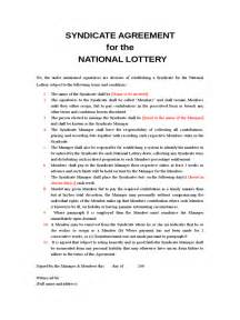lottery agreement template lottery syndicate agreement form 6 free templates in pdf