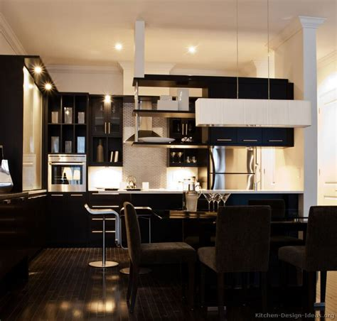 Black Cabinets Kitchen Pictures Of Kitchens Modern Black Kitchen Cabinets