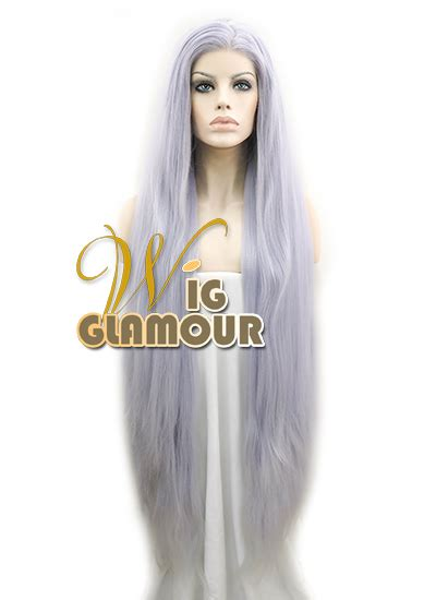 Wig Cowo Lh 034 By Wig 39 quot yaki silver grey lace front wig heat
