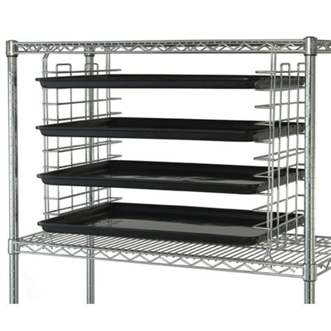 Slide Wire Shelving Chrome Wire Shelving 24 Quot Tray And Bin Slide Pair Ts24c