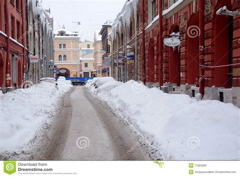St Snow snow in petersburg editorial image