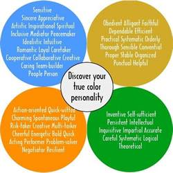 color personalities true colors personality test creative teaching ideas