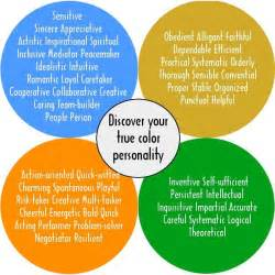 Color Personality Test by True Colors Personality Test Creative Teaching Ideas