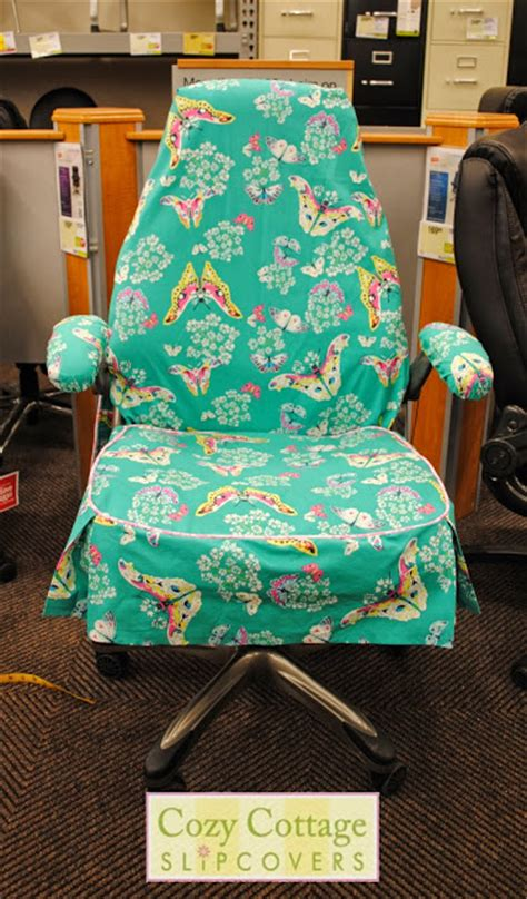 Desk Chair Slipcovers by Cozy Cottage Slipcovers Butterfly Office Chair Slipcover