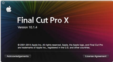 final cut pro hardware requirements final cut pro 10 1 4 bt