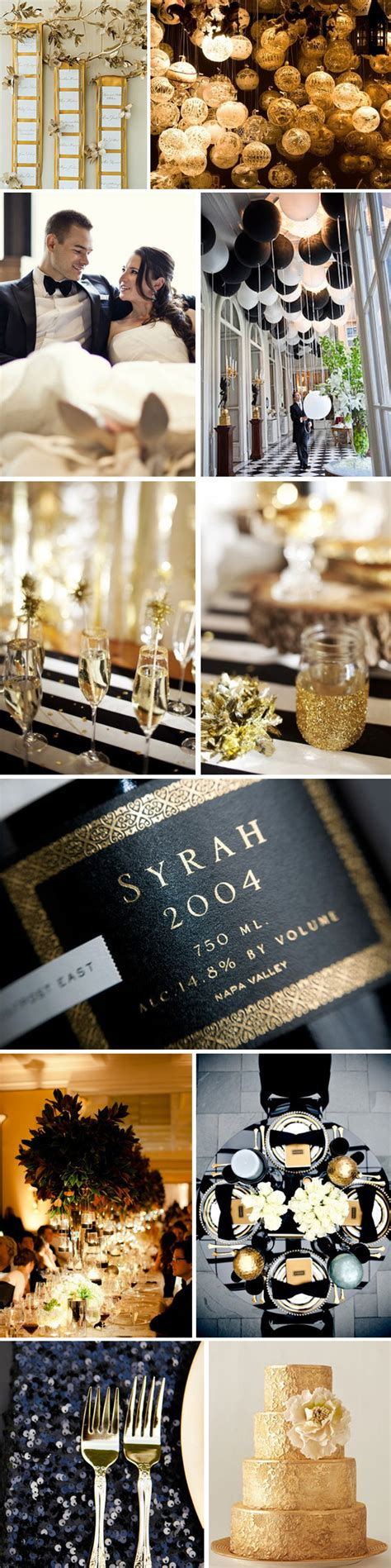 wedding themes gold and black black gold weddings the destination wedding blog jet