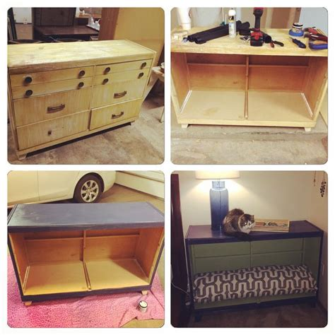 old dresser into dog bed old dresser turned into a dog bed it was so easy remove
