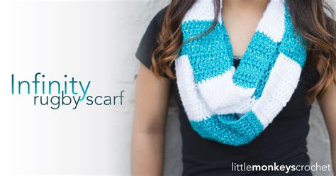 free crochet pattern rugby infinity scarf striped