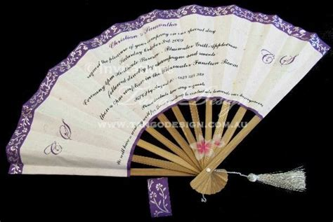 Handmade Quinceanera Invitations - unique invitation idea handmade fan invitations with