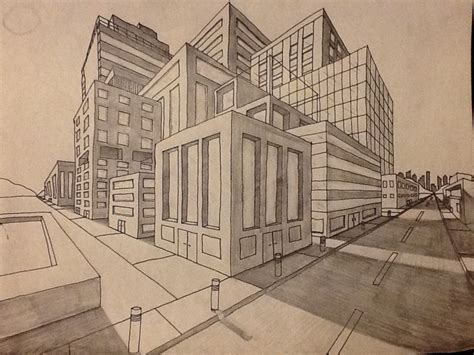 Drawing 2 Point Perspective Buildings 2 point perspective has two vanishing points and the