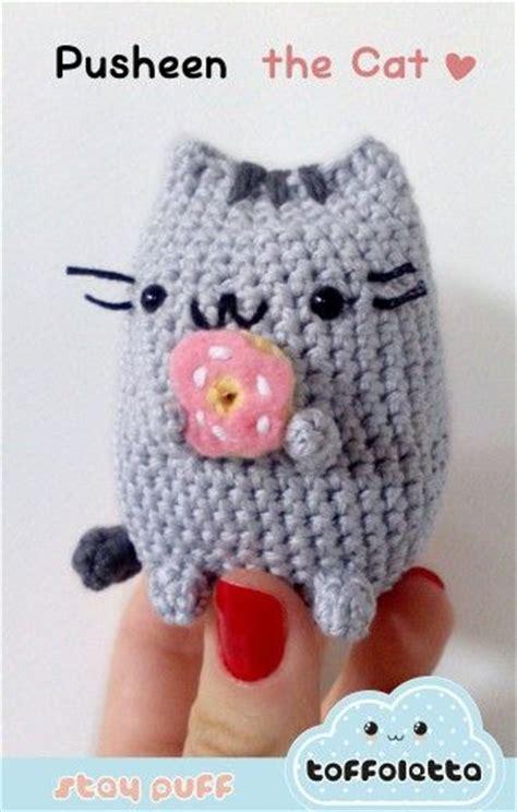 pusheen knitting pattern pusheen the cat kawaii amigurumi by toffoletta