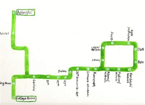 green line map chicago chicago cta green line chicagoline maps and globes