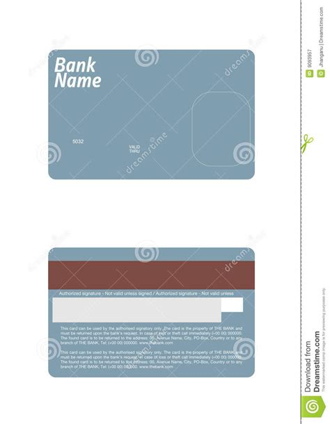 Visa Card Template by Credit Card Template Stock Vector Image Of Debit