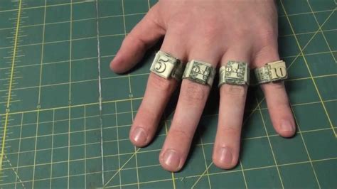 How To Make An Origami Dollar Ring - easiest way to make origami dollar rings ones fives and