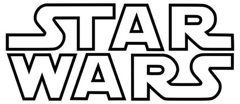 coloring pages star wars logo vinyl decal star wars logo outlined