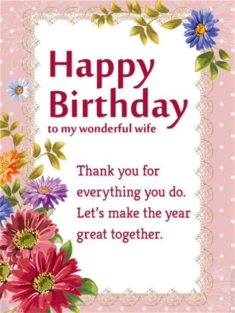 Happy Birthday To My Card Birthday Cards For Wife Birthday Greeting Cards By