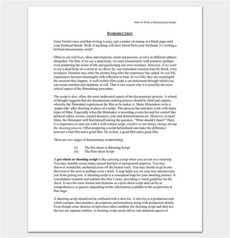Script Outline by Script Outline Template 12 Exles For Word Pdf Format