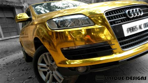 gold chrome jeep gold chrome audi q7 wrap wrapfolio