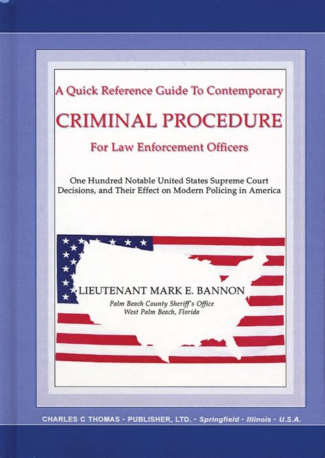 Criminal Reference Charles C Publisher Ltd Reference Guide To