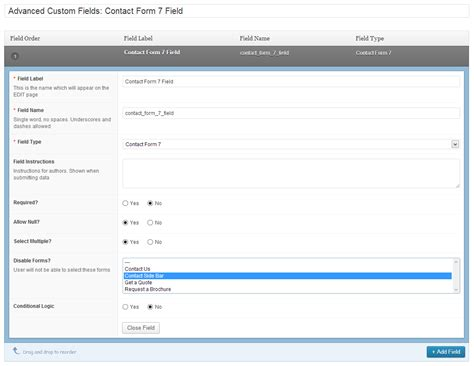 Storage For Contact Form Cf7 V1 6 0 github taylormsj acf cf7 field add one or more contact forms to a custom field