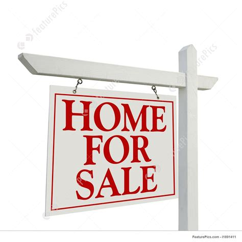 House For Sale Sign by Signboards Home For Sale Real Estate Sign Stock Photo