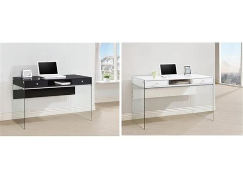 glass computer desk modern modern glass computer desk small computer desk black