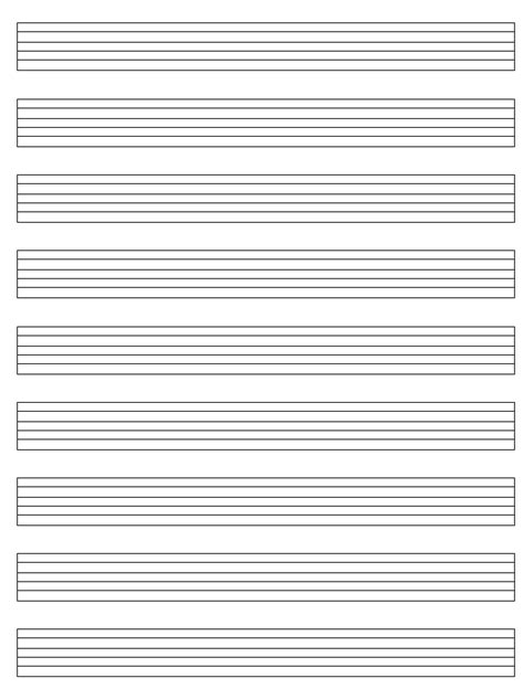 blank sheet music paper for guitar