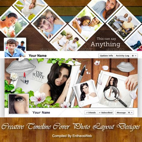 timeline collage template creative timeline cover photo layout designs entheos
