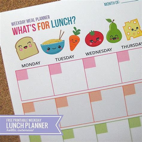 lunch calendar template tips for organizing school mornings
