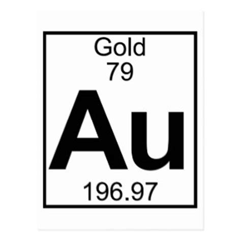 Au On The Periodic Table by 79th Birthday Gifts On Zazzle