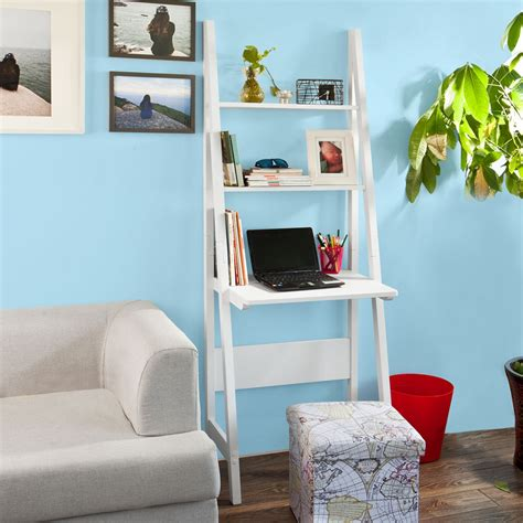 Ladder Shelving Unit With Desk by Sobuy 174 Ladder Style Bookcase Shelving Storage Display
