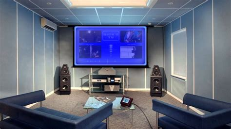 futuristic home theater system design concept in hd