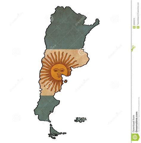 imagenes vintage libertad argentina map on argentina flag drawing stock photo
