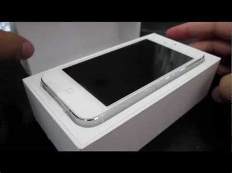 Garskin Apple Iphone 5s White unboxing iphone 5 white 16gb