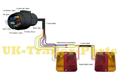 4 way flat trailer wiring diagram for lights free