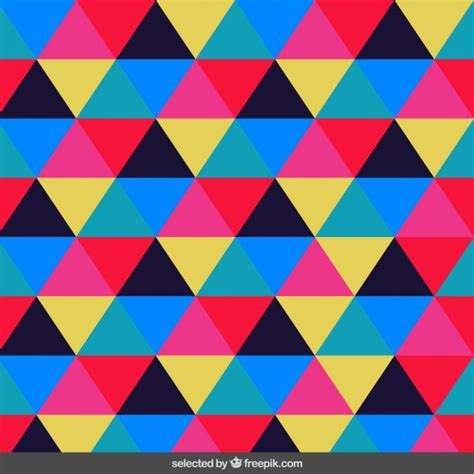 triangle pattern vector free download pattern made with colorful triangles vector free download