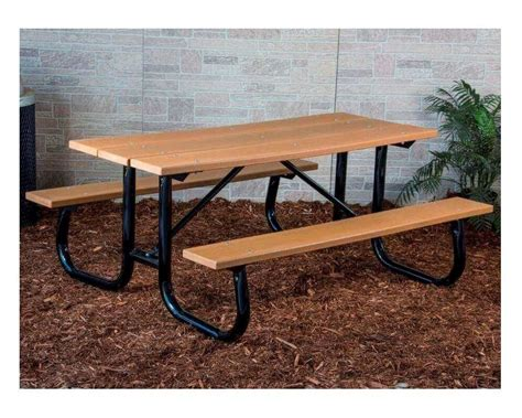 Outside Benches For Schools by 8 Ft Heavy Duty Recycled Plastic Picnic Table With Welded