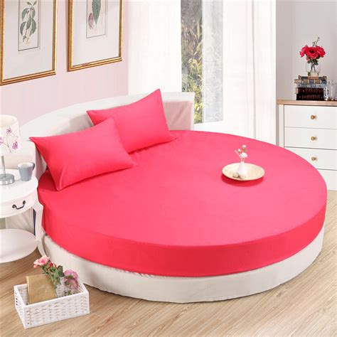 round bed sheets 3 pieces solid color 100 cotton round fitted sheet set