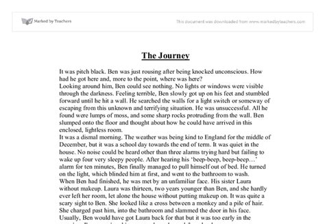 Creative Writing Essay Exles by The Journey Creative Writing Gcse Marked By Teachers
