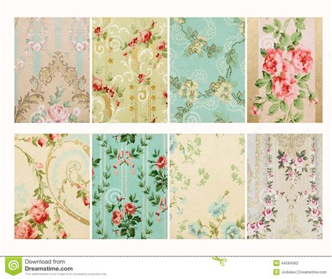 Flowery Chic Set 10 set of vintage floral shabby floral chic walloper