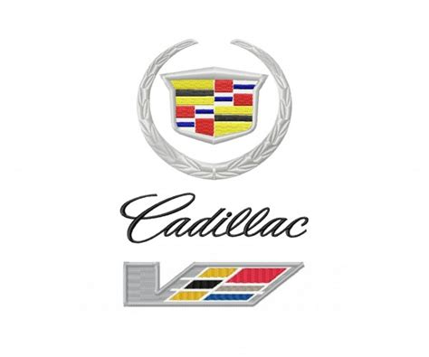 logo cadillac cadillac logo machine embroidery design for instant