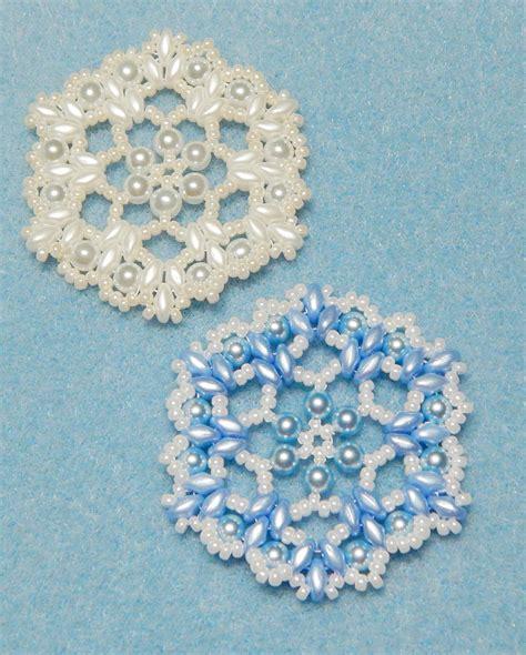 snowflake bead pattern snowflake 6 beaded ornament pattern