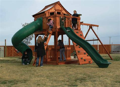 best wooden swing set wood playset denver