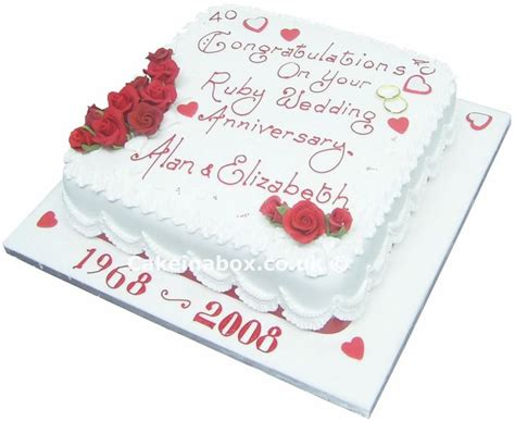 40th wedding anniversary ideas anniversary cake 40th wedding anniversary or another