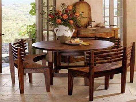 dining sets  benches wooden  table wooden curves