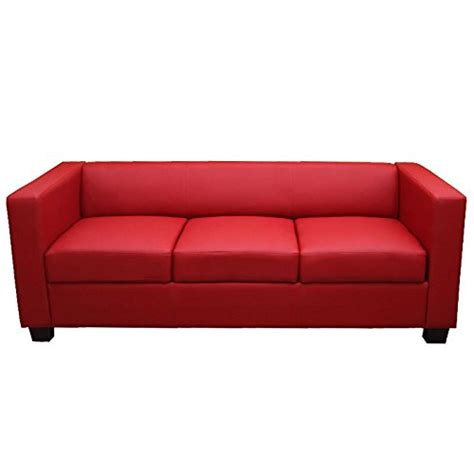 sofa acronym 3er sofa couch loungesofa lille kunstleder rot 0 0